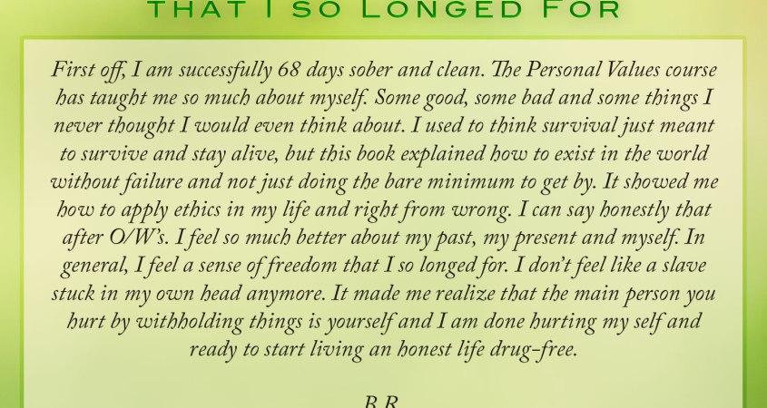 I Feel A Sense Of Freedom